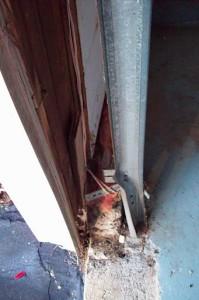 Bent Garage Door Track